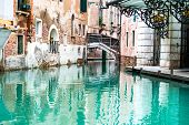 Venice, Italy, Canal and historic tenements