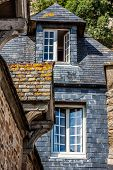 image of michel  - Roofs and houses from the village under the monastry on the Mountain Saint Michel