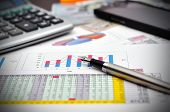 Financial Report On Table