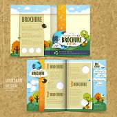 Vector Concept Of Environmental Brochure Design