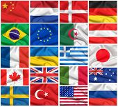 Flags set: USA, Great Britain, Italy, France, Brazil, Germany, Russia, Japan, Canada, Ukraine, Nethe