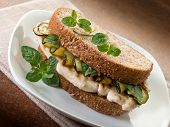 picture of sauteed  - sandwich with grilled chicken and sauteed zucchinis - JPG