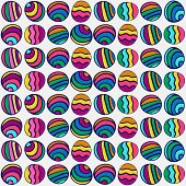 Seamless Pattern Of Colorful Hand-drawn Circles. Summer Background.