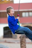 Boy On Flying Fox