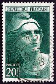 Postage Stamp France 1945 Marianne