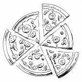 Sliced pizza icon
