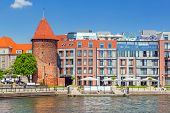 GDANSK, POLAND - 20 MAY: Hilton Hotel in Gdansk on 20 May 2014. Hilton Gdansk is 5 stars hotel locat