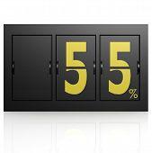 Airport Display Board 55 Percent