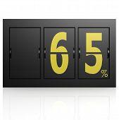 Airport Display Board 65 Percent