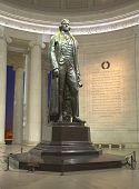pic of thomas jefferson memorial  - This is an image taken inside the Jefferson Memorial - JPG