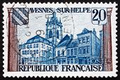 Postage Stamp France 1959 View Of Avesnes-sur-helpe