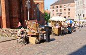 Souvenirs Trade In Riga, Latvia
