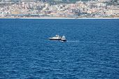 picture of messina  - PIlot boat in the Mediterranean Sea near the Straights of Messina - JPG
