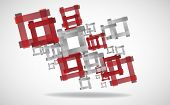 Abstract Square Background. Clip-art