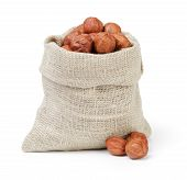Organic Hazelnuts In Sack Pouch