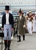 ELBA, PORTOFERRAIO - MAY 03: Marking the 200th anniversary of the arrival of Napoleon in exile with