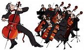 Vector illustration of a classical orchestra