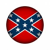 stock photo of confederation  - National flag of the Confederate States of America button  - JPG