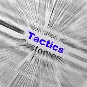 Tactics Sphere Definition Displays Management Plan Or Strategy