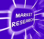 Market Research Diagram Displays Researching Consumer Demand And Preferences