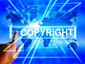 Copyright Map Displays Worldwide Patented Intellectual Property
