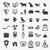 picture of animal footprint  - animal Pet icons set vector illustration eps10 - JPG