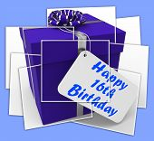 Happy 16Th Birthday Gift Displays Congratulations Age Sixteen