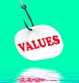 Values On Hook Displays Ethical Values Or Morality
