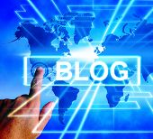 Blog Map Displays Internet Or Worldwide Blogging