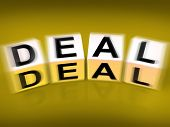 Deal Blocks Displays Dealings Transactions And Agreements