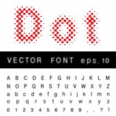 original dotted raster vector alphabet