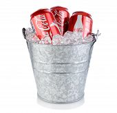 Coca-cola Cans In Ice Bucket