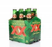 Dos Equis Lager 6Pk Side End View