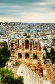 image of akropolis  - The Odeon of Herodes Atticus view in Athens Greece - JPG