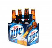 Miller Lite Six Pack Side End View