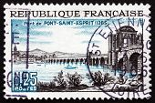 Postage Stamp France 1966 Rhone Bridge, Pont-saint-esprit