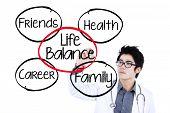 Doctor Making Life Balance Concept 1