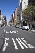 Fire lane at Madison Avenue in Manhattan