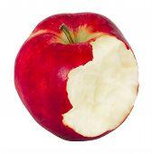 The isolated bitten apple