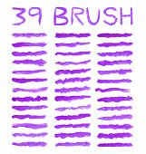 Purple Brushes