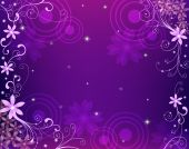 Purple Flower Pattern