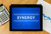 Synergy Word On Digital Tablet