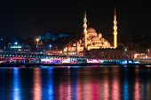 night Istanbul and mosque
