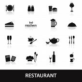 restaurant and pub icons eps10