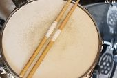 stock photo of drum-set  - Drum set - JPG