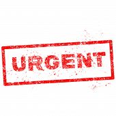 Abstract Red Grunge Office Stamp With The Word Urgent