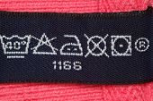 Symbols on label clothes showing as it is necessary to look after these clothes