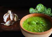Basil Garlic And Pesto