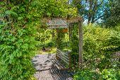 Country home garden