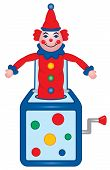 stock photo of old-fashioned  - An old fashioned jack in the box toy - JPG